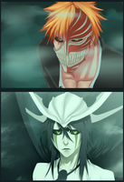 Ichigo vs Ulqiorra by n3eko123