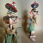 SOLD: OOAK Mushroom Collector Faerie Art Doll by FaunleyFae