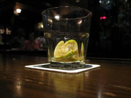 Shot Glass with Lime Wedge by sonnysavage