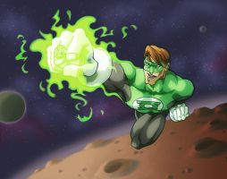 Green Lantern Commish by ZEBES