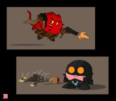 Mignola-verse Kirbys by thesometimers