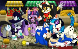 Commission: Sonic and MLP - Paws Off! by BroDogz