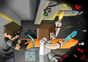 SkyDoesMinecraft and Deadlox by IshmanAllenLitchmore
