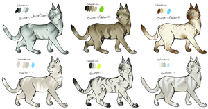 Natural colored cats -OPEN!- by Roqe-Adopts