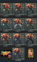 SFIV Zangief Haggar 10 color pack by monkeygigabuster