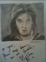 Signed drawing of Natalia Tena by jesscoleman94