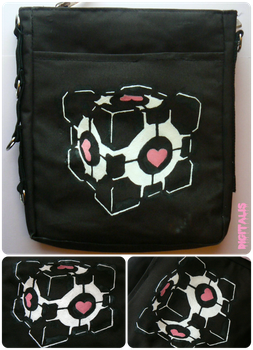 Aperture Science: The Weighted Companion Cube by Digitalis-Atelier