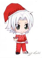 Gokudera Hayato on Christmas. by CrezyKiss