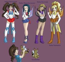 Sailor Seeker Character Design by Ty-Chou