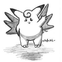 clefable by DarkRainbowAngel