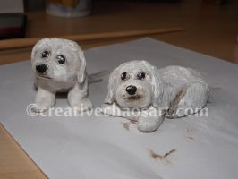 Sam and Millie - cake topper by bicyclegasoline