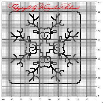 2 - free chart for filet crochet by elore