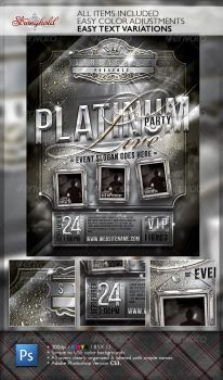 PLATINUM LIVE PARTY FLYER TEMPLATE by STRONGHOLDSTUDIOS