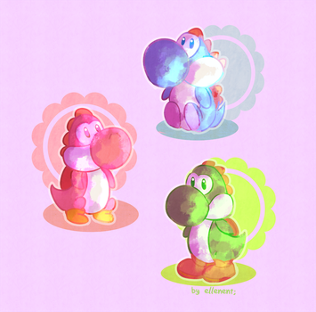 Yoshis! by ellenent