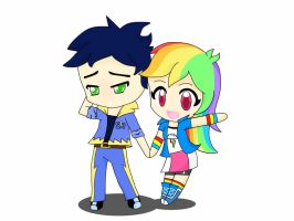 Mlp: Soarin and Rainbow dash EQG by Dashie112