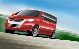 Volkswagen Multivan Rendering by marcomercedes
