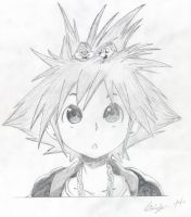 Sora BW Pencil drawing by Andrex91