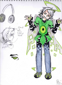 The Rogue Program Glitch - Coloured Character Ref by PeriBerryTea