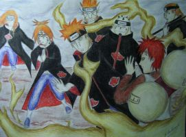gaara vs pain by LadyTsunadePl