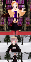 APH MMD: 2P!Nyo France and Russia by Drindrence