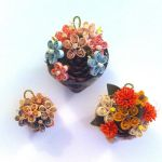 Quilled Flower Shell Ornaments by SpiralArtisan