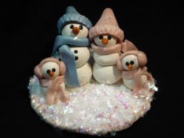 Sculpey-Snowfamily for April by megs83