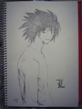 L Lawliet - Death Note by MariaMunozIsidoro