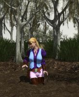 Zelda Sinking in Quicksand by RustyShackleford123