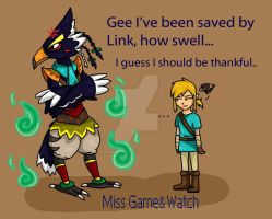 Falco...i mean Revali by MissGameandWatch