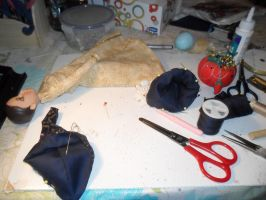 New Doll Costume In Progress by kayanah