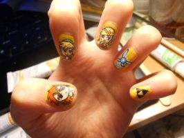 Legend of Zelda nails by marissa287