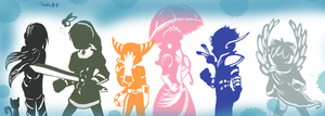 All Star_Smash Brawl Silhouettes by Doodlz18