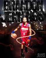 Brandon Jennings Print by S-H-A-P-E