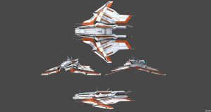 Turian Corvette Concept Views by nach77