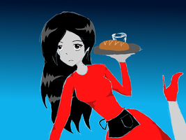 Waitress Marceline by pokepokepotato