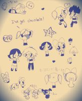PPG and RRB doodles by PinkGiraffes