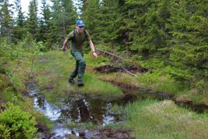 Jumpin puddles deep into norwegian woods by Riddande