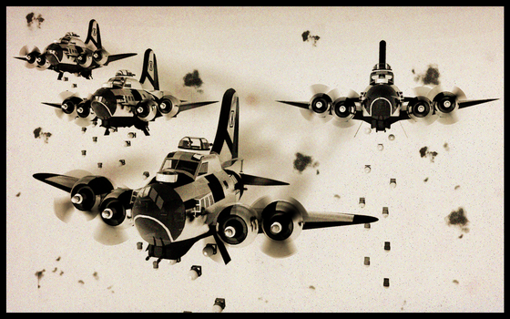 B-17 Caricature by Pixel-pencil