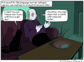 Species language barrier by zombiwoof