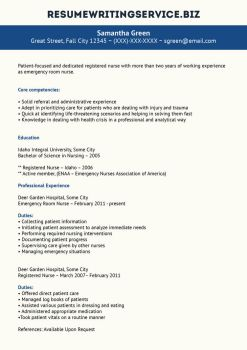 er nurse resume sample by resume writing
