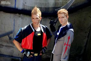 Zell and Seifer Cosplay - Final Fantasy VIII 2013 by LeonChiroCosplayArt