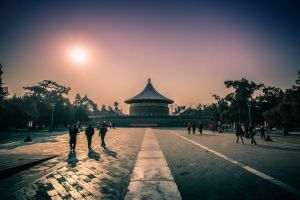 Winter morning The Temple of Heaven by sunny2011bj