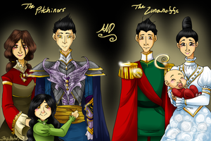 The Pitchiners and Lunanoffs by HezuNeutral