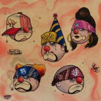 clowns holmes, clowns by Borunda