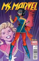 Ms Marvel Front cover COLOUR - Adams Variant by MsKamalaMarvel