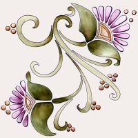 Art Nouveau Flowers 1 23Dec11 by Artwyrd