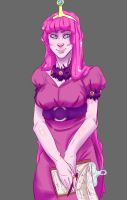 Princess Bubblegum Full(er) Sketch by TheDeepestKing