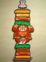 Donkey Kong Jr + Burger time by danny-8bit