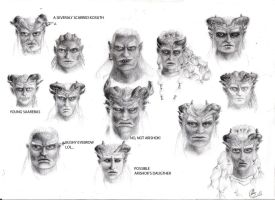Qunari Faces by zabani