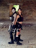 Lara_Doppelganger Back to back by TanyaCroft